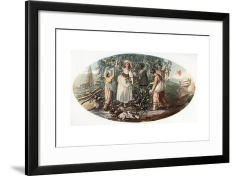 Hop Picking-William Hamilton-Framed Art Print