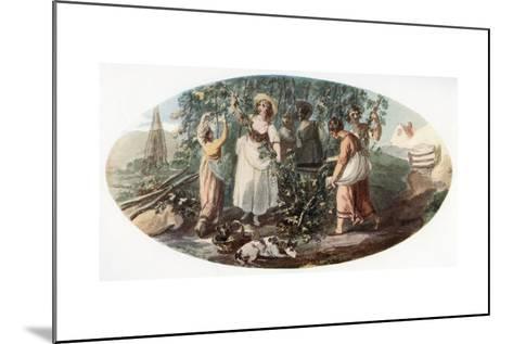 Hop Picking-William Hamilton-Mounted Giclee Print