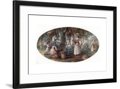 Gathering Fruit, Late 18th Century-William Hamilton-Framed Art Print