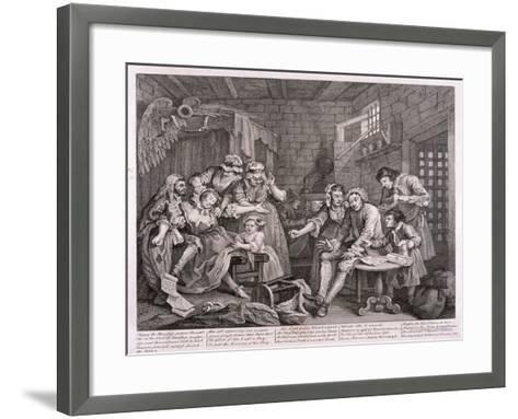 A Rake's Progress, 1735-William Hogarth-Framed Art Print