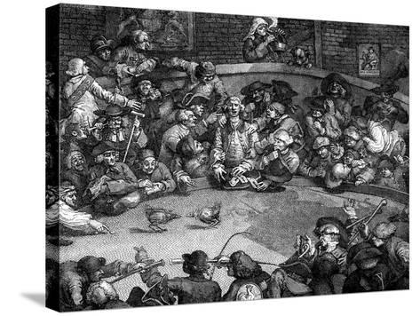 The Cock-Pit, 1759-William Hogarth-Stretched Canvas Print