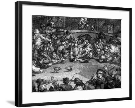 The Cock-Pit, 1759-William Hogarth-Framed Art Print