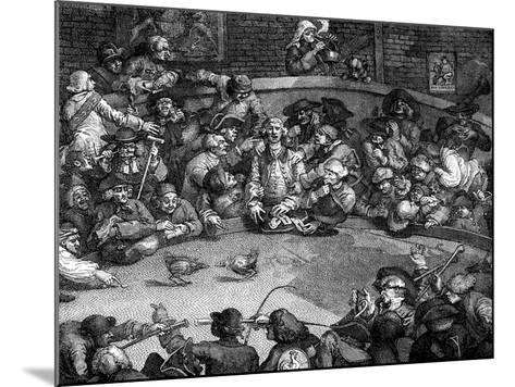 The Cock-Pit, 1759-William Hogarth-Mounted Giclee Print
