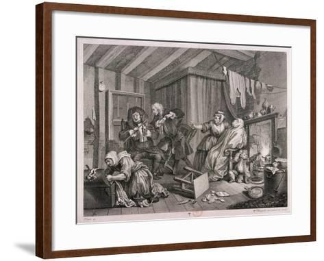 In a High Saliuation at the Point of Death, Plate V of the Harlot's Progress, 1732-William Hogarth-Framed Art Print