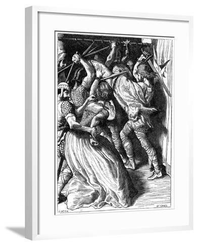 The Murder of Cenulph (D82), King of Mercia, 19th Century-W Small-Framed Art Print