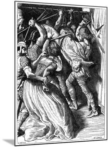 The Murder of Cenulph (D82), King of Mercia, 19th Century-W Small-Mounted Giclee Print