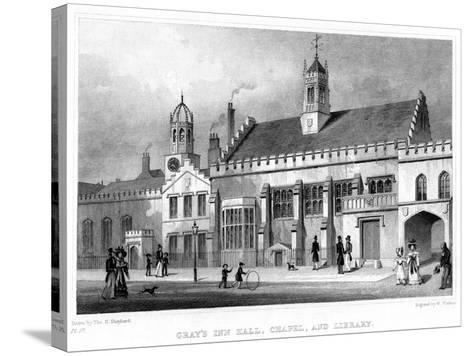Gray's Inn Hall, Chapel, and Library, London, 19th Century-W Watkins-Stretched Canvas Print