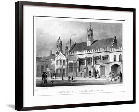 Gray's Inn Hall, Chapel, and Library, London, 19th Century-W Watkins-Framed Art Print