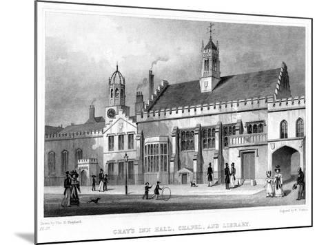Gray's Inn Hall, Chapel, and Library, London, 19th Century-W Watkins-Mounted Giclee Print