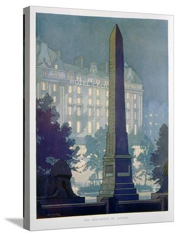 Two Monuments of London, Advert for the Hotel Cecil, 1925-W Welsh-Stretched Canvas Print