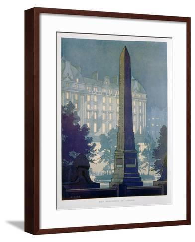 Two Monuments of London, Advert for the Hotel Cecil, 1925-W Welsh-Framed Art Print