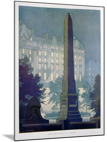 Two Monuments of London, Advert for the Hotel Cecil, 1925-W Welsh-Mounted Giclee Print