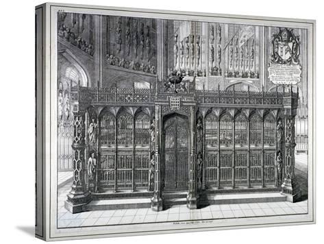 Monument to Henry VII and Queen Elizabeth in the King's Chapel, Westminster Abbey, London, 1665-Wenceslaus Hollar-Stretched Canvas Print