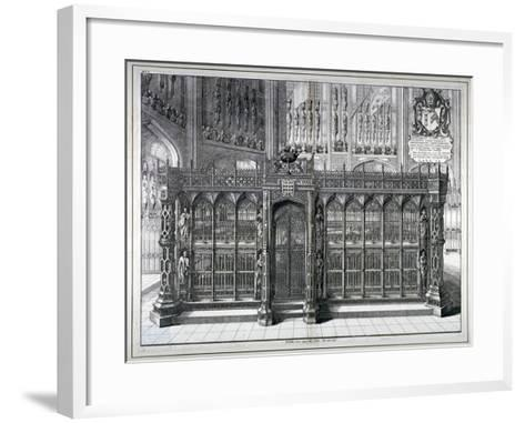 Monument to Henry VII and Queen Elizabeth in the King's Chapel, Westminster Abbey, London, 1665-Wenceslaus Hollar-Framed Art Print