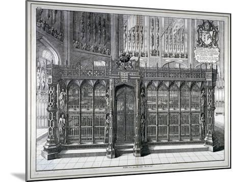 Monument to Henry VII and Queen Elizabeth in the King's Chapel, Westminster Abbey, London, 1665-Wenceslaus Hollar-Mounted Giclee Print