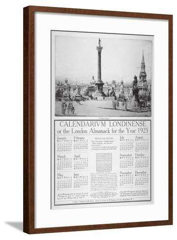 Trafalgar Square, Westminster, London, 1924-William Monk-Framed Art Print