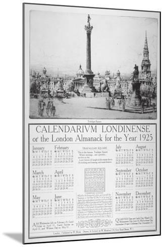Trafalgar Square, Westminster, London, 1924-William Monk-Mounted Giclee Print
