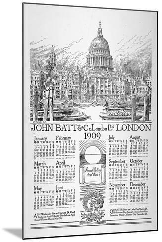 St Paul's Cathedral, City of London, 1908-William Monk-Mounted Giclee Print