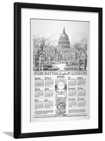 St Paul's Cathedral, City of London, 1908-William Monk-Framed Art Print