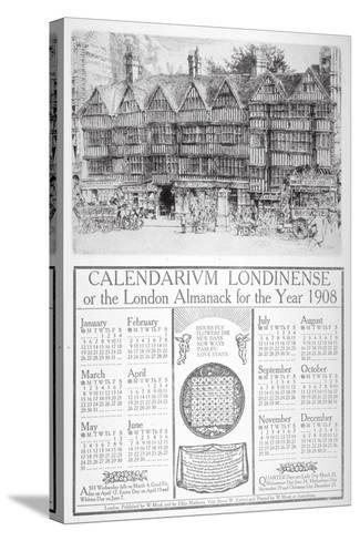 Staple Inn, London, 1907-William Monk-Stretched Canvas Print