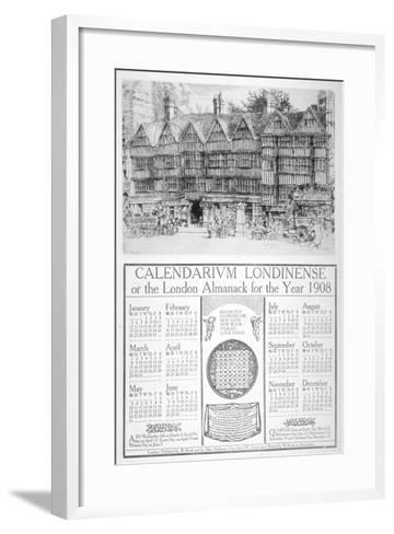 Staple Inn, London, 1907-William Monk-Framed Art Print