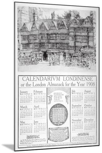 Staple Inn, London, 1907-William Monk-Mounted Giclee Print