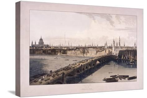 London Bridge, 1804-William Daniell-Stretched Canvas Print