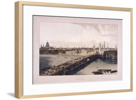 London Bridge, 1804-William Daniell-Framed Art Print