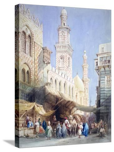 The Sharia El Gohargiyeh, Cairo, 19th Century-William Henry Bartlett-Stretched Canvas Print