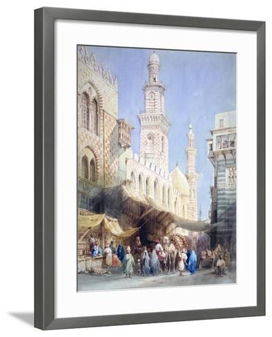 The Sharia El Gohargiyeh, Cairo, 19th Century-William Henry Bartlett-Framed Art Print