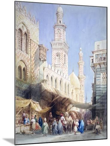 The Sharia El Gohargiyeh, Cairo, 19th Century-William Henry Bartlett-Mounted Giclee Print