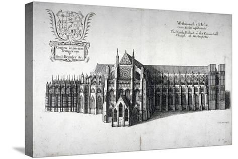 North View of Westminster Abbey, London, 1654-Wenceslaus Hollar-Stretched Canvas Print