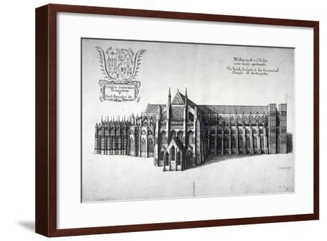 North View of Westminster Abbey, London, 1654-Wenceslaus Hollar-Framed Art Print