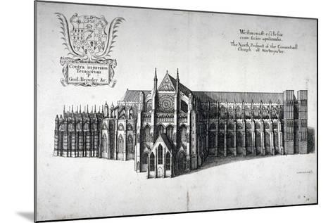 North View of Westminster Abbey, London, 1654-Wenceslaus Hollar-Mounted Giclee Print