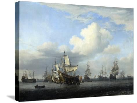 The Captured 'Swiftsure, 'Seven Oaks, 'Loyal George' and 'Convertine..., C1666-Willem Van De Velde The Younger-Stretched Canvas Print
