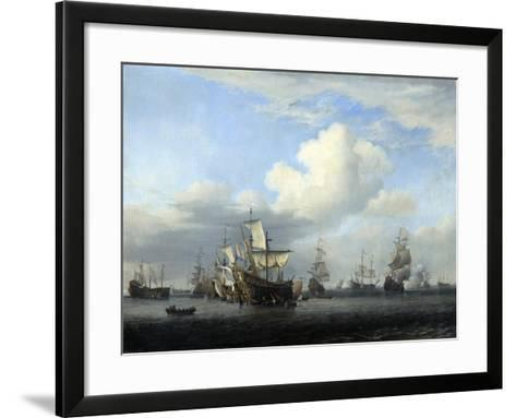 The Captured 'Swiftsure, 'Seven Oaks, 'Loyal George' and 'Convertine..., C1666-Willem Van De Velde The Younger-Framed Art Print