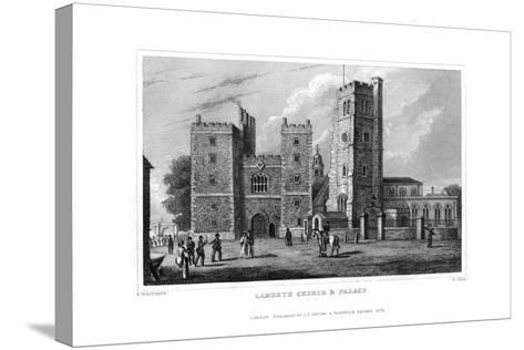 Lambeth Church and Palace, London, 1829-W Syms-Stretched Canvas Print