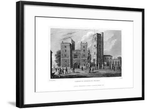 Lambeth Church and Palace, London, 1829-W Syms-Framed Art Print