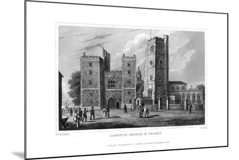 Lambeth Church and Palace, London, 1829-W Syms-Mounted Giclee Print