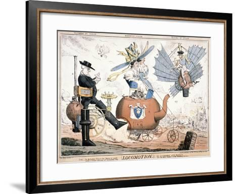 All the World's a Stage..., London, C1824-W Taylor-Framed Art Print