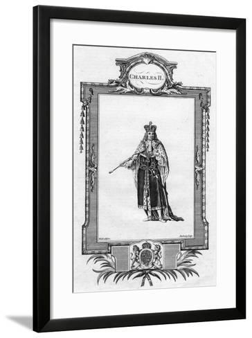 Charles II, King of England, Scotland and Ireland- Waledelin-Framed Art Print
