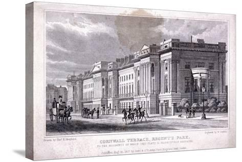 Cornwall Terrace, Regent's Park, Marylebone, London, 1827-William Deeble-Stretched Canvas Print