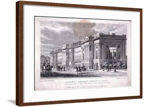 Cornwall Terrace, Regent's Park, Marylebone, London, 1827-William Deeble-Framed Art Print