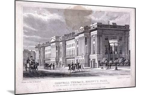 Cornwall Terrace, Regent's Park, Marylebone, London, 1827-William Deeble-Mounted Giclee Print