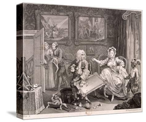In High Keeping by a Jew, Plate II of the Harlot's Progress, 1732-William Hogarth-Stretched Canvas Print