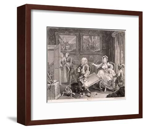 In High Keeping by a Jew, Plate II of the Harlot's Progress, 1732-William Hogarth-Framed Art Print