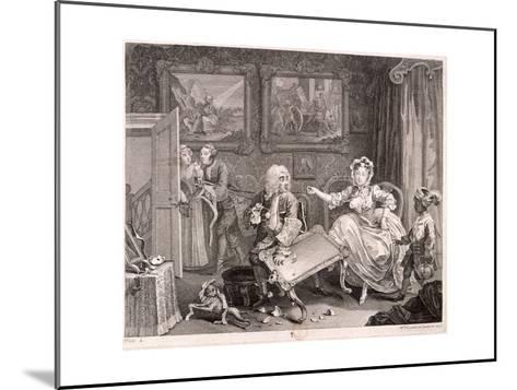 In High Keeping by a Jew, Plate II of the Harlot's Progress, 1732-William Hogarth-Mounted Giclee Print
