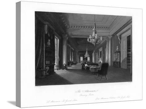 The Drawing Room, Athenæum, 19th Century-W Taylor-Stretched Canvas Print