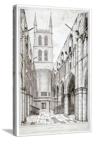 View of the Nave, St Saviour's Church, Southwark, London, C1834-W Taylor-Stretched Canvas Print