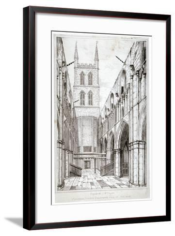 View of the Nave, St Saviour's Church, Southwark, London, C1834-W Taylor-Framed Art Print